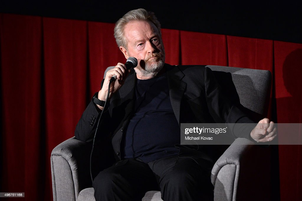 Filmmaker Ridley Scott speaks onstage at 'On Directing: A Conversation with Ridley Scott' during AFI FEST 2015 presented by Audi at TCL Chinese 6 Theatres on November 11, 2015 in Hollywood, California.