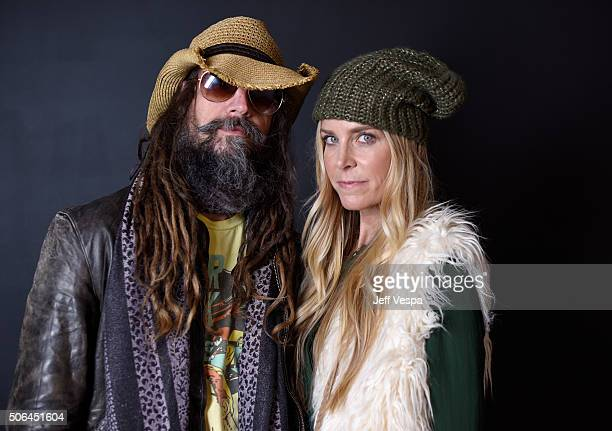 Filmmaker Rob Zombie and actress Sheri Moon Zombie from the film 31 pose for a portrait during the WireImage Portrait Studio hosted by Eddie Bauer at...