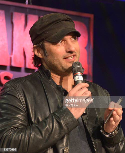 Filmmaker Robert Rodriguez speaks at the Private Filmmaker Luncheon during the 2013 SXSW Music Film Interactive Festival at Troublemaker Studios on...