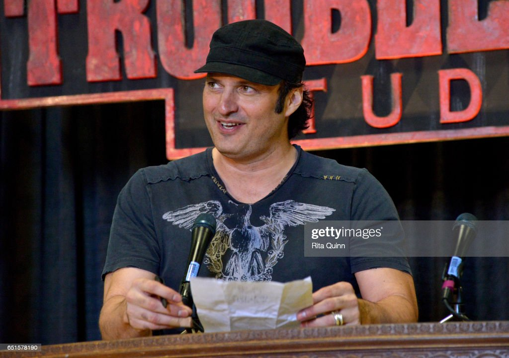 Filmmaker Robert Rodriguez speaks on stage at the 9th Annual SXSW Filmmaker Lunch during 2017 SXSW Conference and Festivals at Trouble Maker Studios on March 10, 2017 in Austin, Texas.
