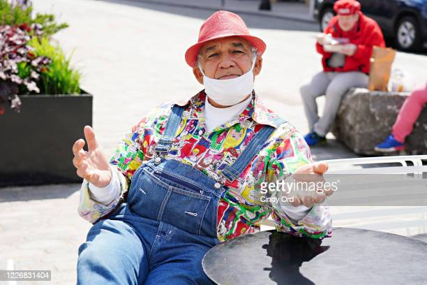 Filmmaker Roberto Monticello sits outside Dos Caminos during the coronavirus pandemic on May 24, 2020 in New York City. COVID-19 has spread to most...