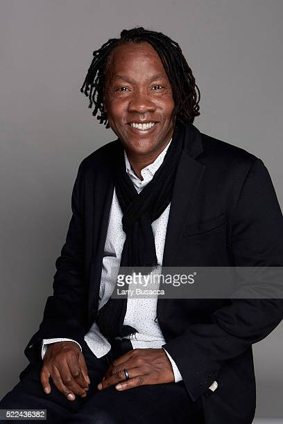 Filmmaker Roger Ross Williams poses for a portrait during the Juror Welcome Lunch at the 2016 Tribeca Film Festival on April 14 2016 in New York City