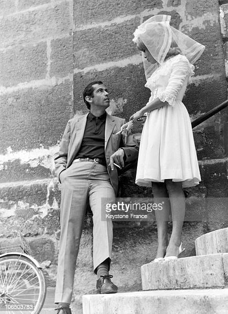 Filmmaker Roger Vadim And Actress Catherine Deneuve His Partner Shooting A Wedding Scene From The Film Vice And Virtue In 1962