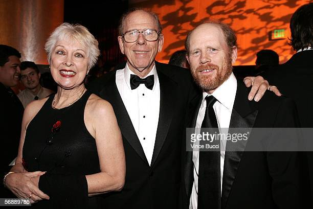 Filmmaker Ron Howard and parents Rance Howard and Judy O Sullivan attend the 56th Annual ACE Eddie Awards cocktail reception held at the Beverly...