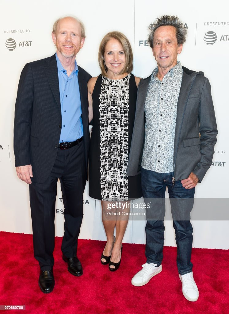 Filmmaker Ron Howard, Katie Couric and Brian Grazer attends the 'Genius' Premiere during the 2017 Tribeca Film Festival at BMCC Tribeca PAC on April 20, 2017 in New York City.