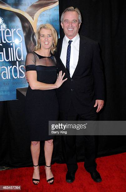 Filmmaker Rory Kennedy and Robert F Kennedy Jr arrive at the 2015 Writers Guild Awards at the Hyatt Regency Century Plaza on February 14 2015 in Los...