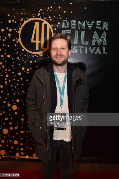 Filmmaker Sam Peeters arrives for a screening of his film 'Homeland' at the 40th annual Denver Film Festival on November 9 2017 in Denver Colorado