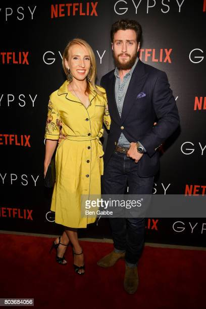 Filmmaker Sam TaylorJohnson and actor Aaron TaylorJohnson attend a special screening of 'Gypsy' hosted by Netflix at Public Hotel on June 29 2017 in...
