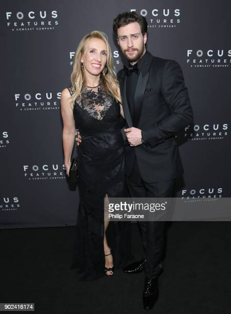 Filmmaker Sam TaylorJohnson and actor Aaron TaylorJohnson attend Focus Features Golden Globe Awards After Party on January 7 2018 in Beverly Hills...