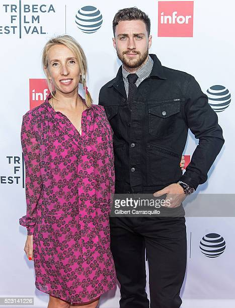 Filmmaker Sam TaylorJohnson and actor Aaron TaylorJohnson attend 'Taxi Driver' 40th Anniversary Celebration during 2016 Tribeca Film Festival at The...