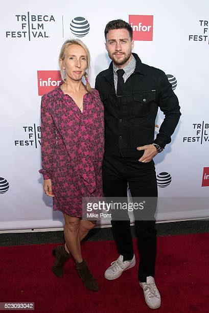 Filmmaker Sam TaylorJohnson and actor Aaron TaylorJohnson attend the 'Taxi Driver' 40th Anniversary Screening during the 2016 Tribeca Film Festival...