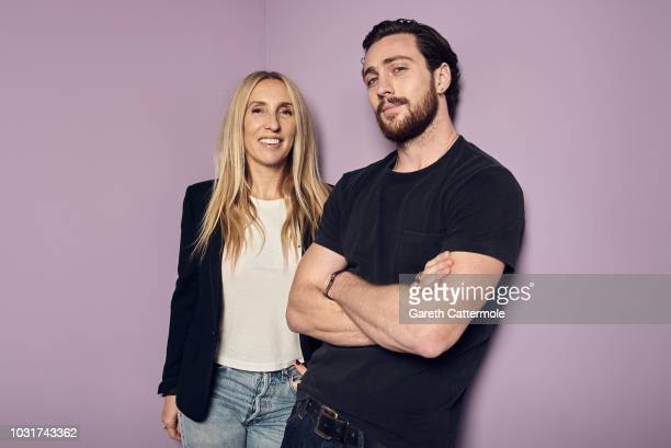 Filmmaker Sam TaylorJohnson and actor Aaron TaylorJohnson from the film 'A Million Little Pieces' pose for a portrait during the 2018 Toronto...