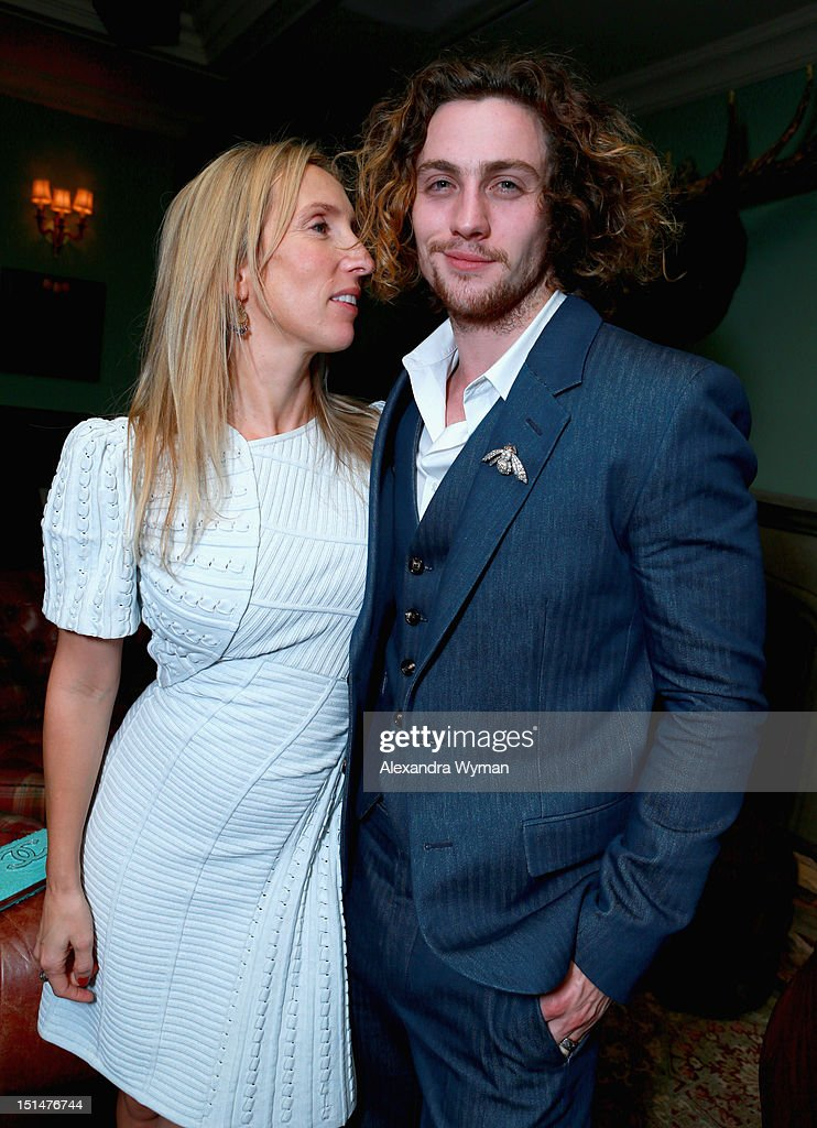Filmmaker Sam Taylor-Wood and actor Aaron Johnson attend the Grey Goose Vodka and Forevermark Diamonds party for 'Anna Karenina' at Soho House Toronto on September 7, 2012 in Toronto, Canada.