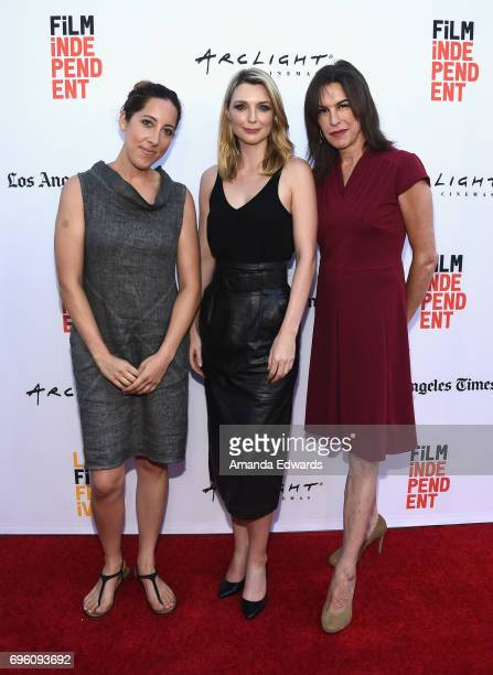 Filmmaker Savannah Bloch actors Tania Nolan and Rachel Crowl attend the opening night premiere of Focus Features' The Book of Henry during the 2017...