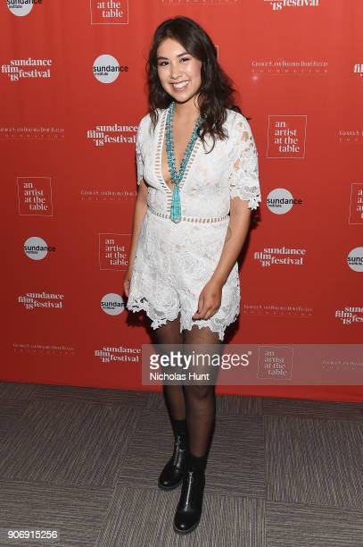 Filmmaker Shaandiin Tome attends An Artist at the Table Cocktail Reception and Dinner during the 2018 Sundance Film Festival at DeJoria Center on...