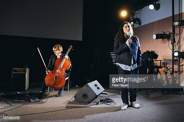 Filmmaker Shari Frilot attends the Bear 71 Launch Event during the 2012 Sundance Film Festival at New Frontier on January 20 2012 in Park City Utah