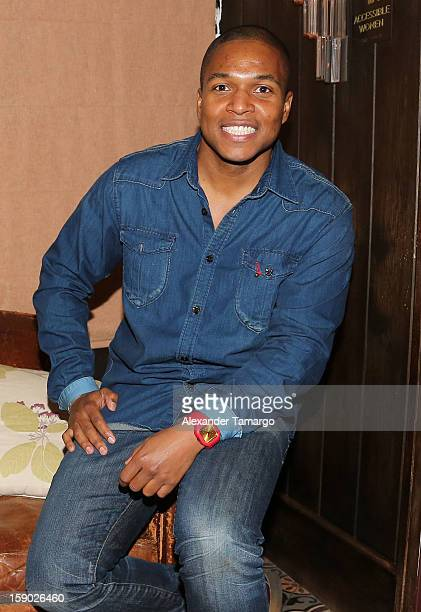 Filmmaker Sheldon Candis poses for a photo at the special Miami Tastemaker Dinner and Screening of Common's new movie LUV presented by Venus Mecari...