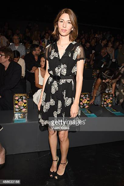 Filmmaker Sofia Coppola attends Anna Sui Spring 2016 during New York Fashion Week The Shows at The Arc Skylight at Moynihan Station on September 16...