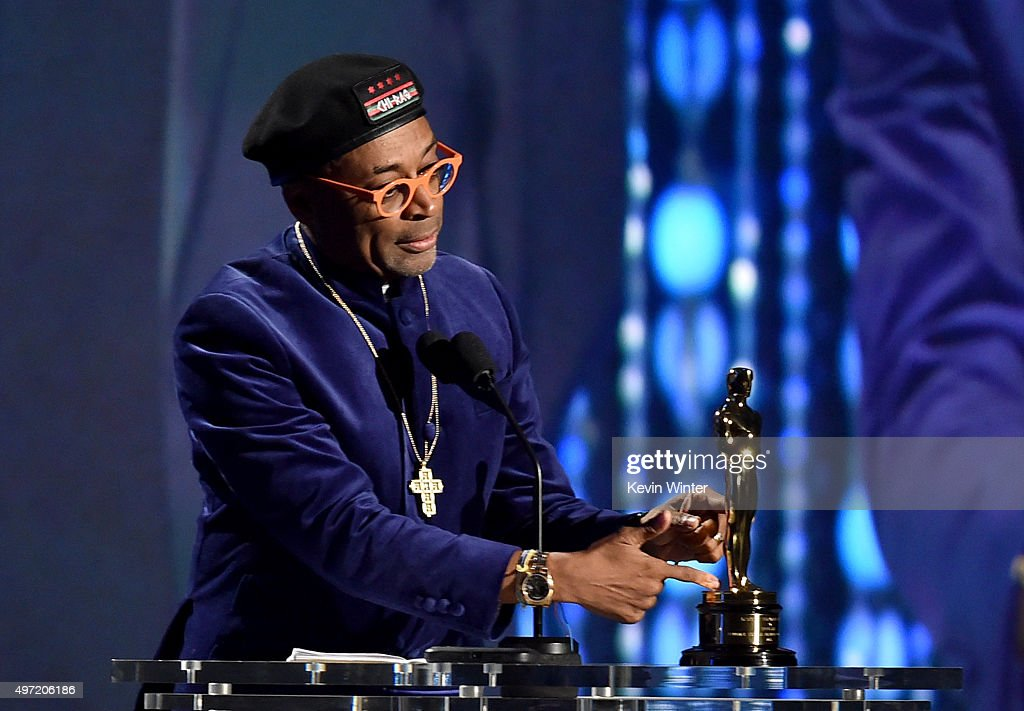 Filmmaker Spike Lee accepts an award onstage during the Academy of Motion Picture Arts and Sciences' 7th annual Governors Awards at The Ray Dolby Ballroom at Hollywood & Highland Center on November 14, 2015 in Hollywood, California.