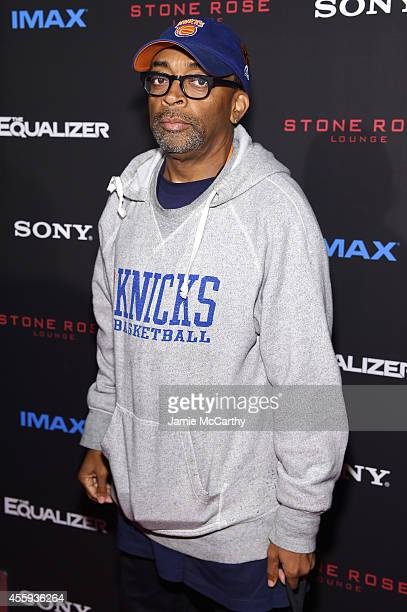 Filmmaker Spike Lee attends the The Equalizer New York premiere at AMC Lincoln Square Theater on September 22 2014 in New York City