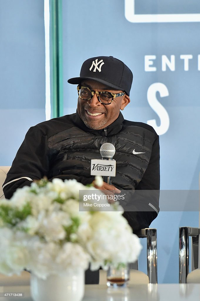 Filmmaker Spike Lee speaks onstage at Variety's Entertainment and Technology Summit NYC at Le Parker Meridien on April 30, 2015 in New York City.