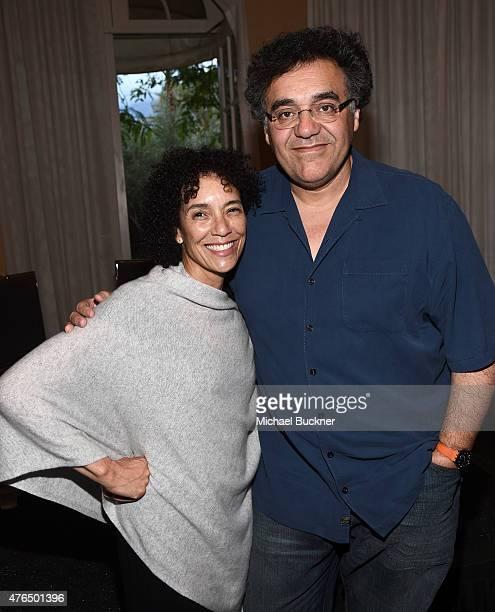 Filmmaker Stephanie Allain and filmmaker Rodrigo Garcia attend the 2015 Los Angeles Film Festival Filmmaker Retreat at the Parker Palm Springs on...