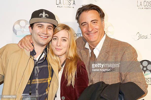 Filmmaker Stephen Borrello actors Daniella Garcia and Andy Garcia arrive at the La Costa Film Festival Closing Night Red Carpet Gala For At Middleton...