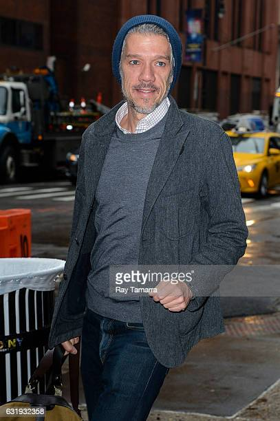Filmmaker Stephen Gaghan enters the AOL Build taping at the AOL Studios on January 17 2017 in New York City