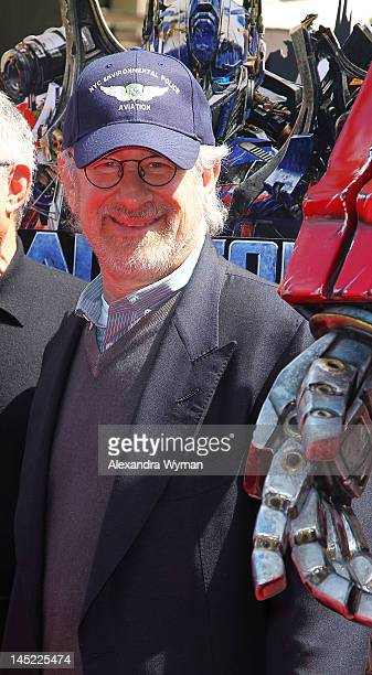 Filmmaker Steven Spielberg at Universal Studios Transformers The Ride3D at Universal Studios Hollywood on May 24 2012 in Universal City California