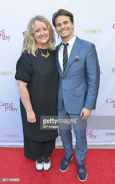 Filmmaker Susan Johnson and actor Jason Ritter attend the 'Carrie Pilby' TIFF Party Hosted By CIROC And Grolsch at Storys Building on September 9...
