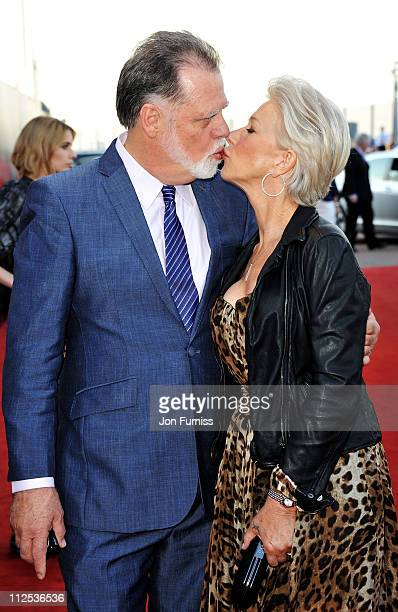 Filmmaker Taylor Hackford and actress Helen Mirren attend the Arthur European premiere at Cineworld 02 Arena on April 19 2011 in London England