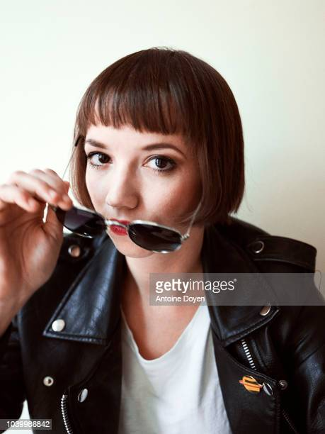 Filmmaker Tereza Nvotova is photographed for Self Assignment on September 2018 in Paris France