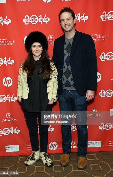 Filmmaker Tessa LouiseSalome and Sundance Film Festival Director of Programming Trevor Groth attend the Mr leos caraX Premiere 2014 Sundance Film...
