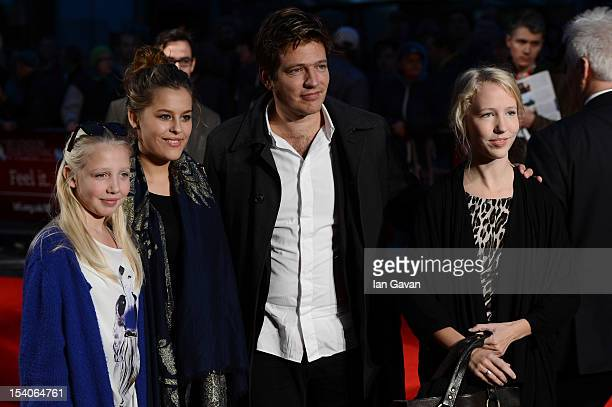 Filmmaker Thomas Vinterberg and guests attends the premiere of 'The Hunt' during the 56th BFI London Film Festival at Odeon West End on October 13...
