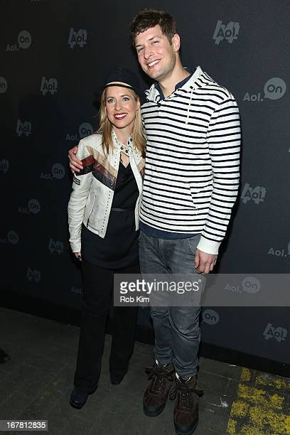 Filmmaker Tiffany Shlain and TV Personality Max Lugavere attend the AOL 2013 Digital Content NewFront on April 30 2013 in New York City