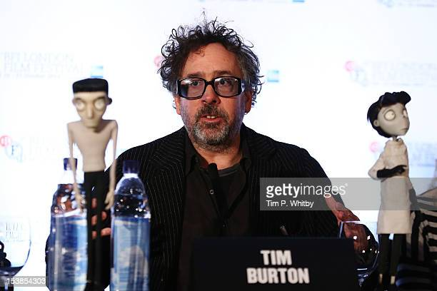 FIlmmaker Tim Burton speaks at the 'Frankenweenie 3D' press conference at the Corinthia Hotel London which later tonight opens the 56th BFI London...