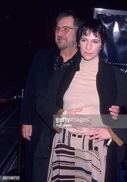 Filmmaker Tobe Hooper and actress Amanda Plummer attend the 'Dragonfly' West Hollywood Premiere on February 18 2002 at the DGA Theatre in West...