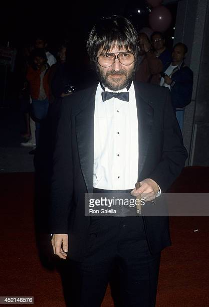 Filmmaker Tobe Hooper attends 'The Naked Cage' Premiere Party on February 22 1986 at the Cannon Film Headquarters in Culver City California
