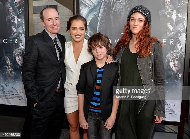 """Filmmaker Tom Hammock, actors Haley Lu Richardson, Max Charles and Nicole Fox attend the opening night premiere of """"Snowpiercer"""" during the 2014 Los..."""
