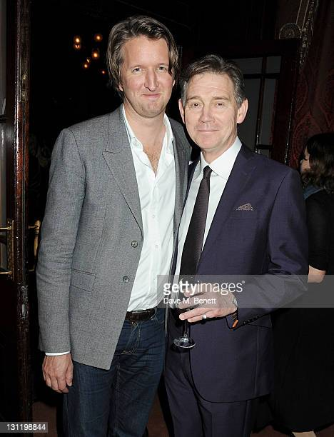 Filmmaker Tom Hooper and actor Anthony Andrews attend an after party celebrating Press Night of 'Three Days In May' on November 2 2011 in London...