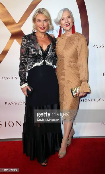 Filmmaker Tosca Musk and mother/model Maye Musk attend the world premiere of The Matchmaker's Playbook at the Charlie Chaplin Theatre on March 15...
