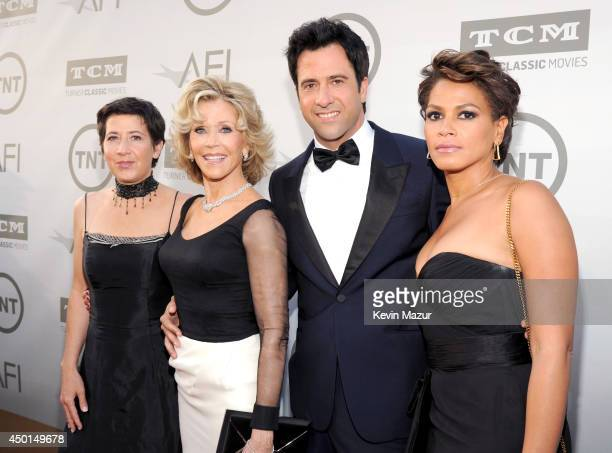 Filmmaker Vanessa Vadim honoree Jane Fonda actor Troy Garity and Simone Ben attend the 2014 AFI Life Achievement Award A Tribute to Jane Fonda at the...