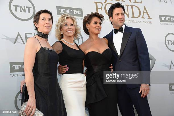 Filmmaker Vanessa Vadim honoree Jane Fonda Simone Bent and actor Troy Garity attend the 2014 AFI Life Achievement Award A Tribute to Jane Fonda at...