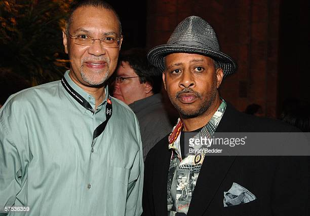 Filmmaker Warrington Hudlin and Ruben Santiago-Hudson attends the TAA Closing Night Party during the 5th Annual Tribeca Film Festival May 4, 2006 in...