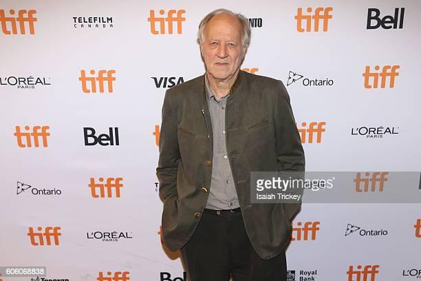 Filmmaker Werner Herzog attends the 'Salt and Fire' premiere during the 2016 Toronto International Film Festival at The Elgin on September 15 2016 in...