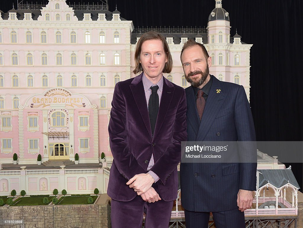 Filmmaker Wes Anderson (L) and actor Ralph Fiennes attend the 'The Grand Budapest Hotel' New York Premiere at Alice Tully Hall on February 26, 2014 in New York City.