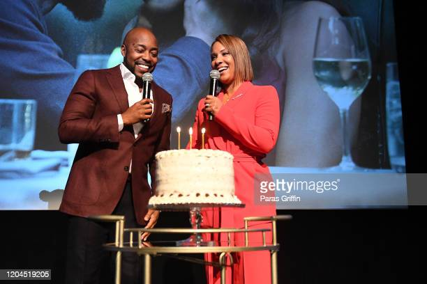 Filmmaker Will Packer celebrates with wife Heather Packer during a special screening of 'The Photograph' hosted by Will Packer and presented by...
