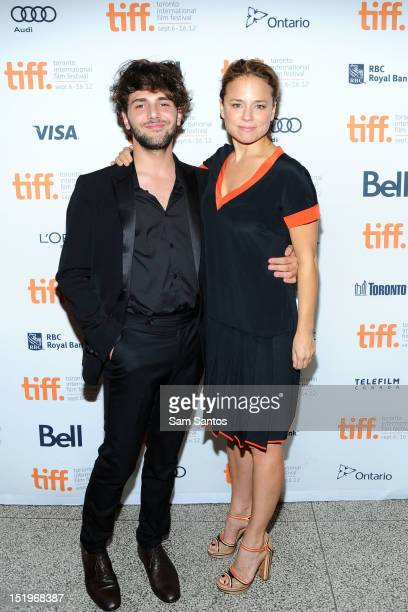Filmmaker Xavier Dolan and actress Suzanne Clement attend Laurence Anyways premiere during the 2012 Toronto International Film Festival at The Elgin...