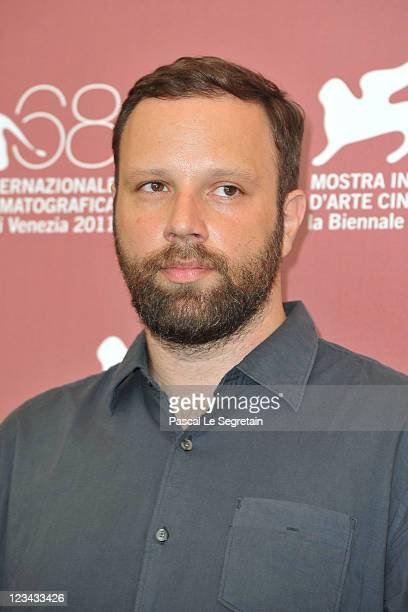 Filmmaker YorgosLanthimos poses at the Alpis photocall during the 68th Venice Film Festival at the Palazzo del Cinema on September 3 2011 in Venice...