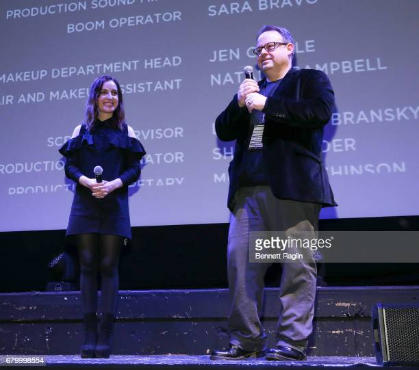 Filmmaker Zoe Lister Jones and Tom Hall Executive director of the Montclair Film Festival discuss her movie Band Aid during the 2017 Montclair Film...